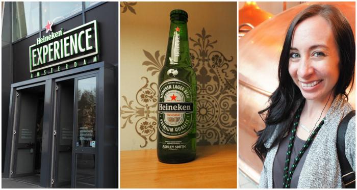 Entrance | Personalized Heineken bottle | The Heineken Experience in Amsterdam | the Netherlands | Heineken Brewery | brewery tour | VIP tasting | beer | Amstel | Brand | Affligem | Heineken 41 | beer tasting