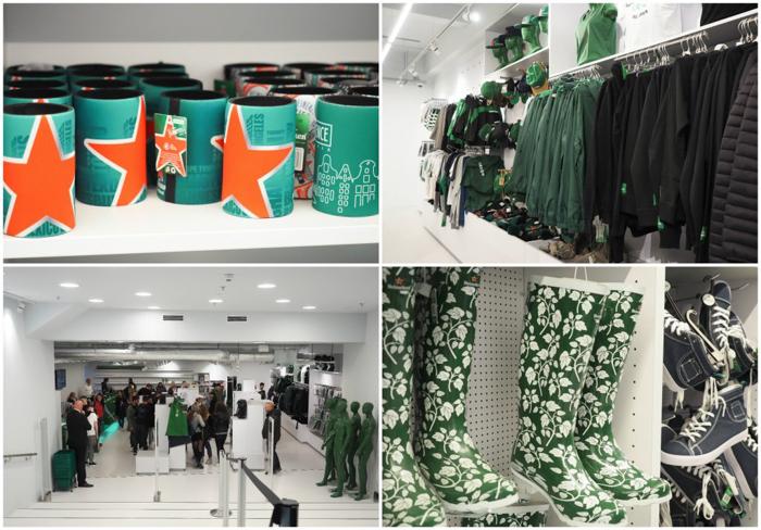 Merchandise and gift shop | The Heineken Experience in Amsterdam | the Netherlands | Heineken Brewery | brewery tour | VIP tasting | beer | Amstel | Brand | Affligem | Heineken 41 | beer tasting