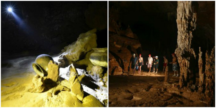 Ancient artifacts and interior of ATM Cave in Belize | Map | San Ignacio, Belize | Cayo District | Tapir Mountain Nature Reserve | Actun Tunichil Muknal | Maya | Mayan archaeological site | skeletal remains | Cave of the Sone Sepulcher | Pacz Tours