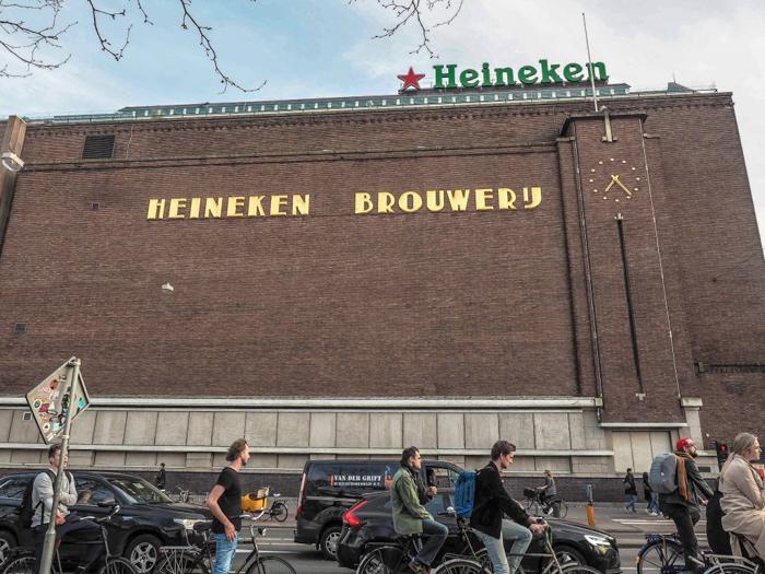 Building exterior | The Heineken Experience in Amsterdam | the Netherlands | Heineken Brewery | brewery tour | VIP tasting | beer | Amstel | Brand | Affligem | Heineken 41 | beer tasting