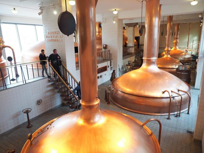 Mash tanks | Copper kettles | The Heineken Experience in Amsterdam | the Netherlands | Heineken Brewery | brewery tour | VIP tasting | beer | Amstel | Brand | Affligem | Heineken 41 | beer tasting