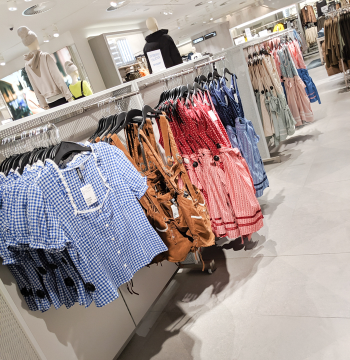 female lederhosen at H&M   How to dress for Oktoberfest, a Complete and Honest Oktoberfest Packing Guide for dirndls   What to wear to Oktoberfest in Munich, Germany #oktoberfest #dirndl #munich #germany #festival #beerfestival #lederhosen
