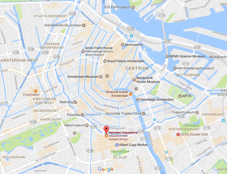 How to get to The Heineken Experience in Amsterdam | the Netherlands | Heineken Brewery | brewery tour | VIP tasting | beer | Amstel | Brand | Affligem | Heineken 41 | beer tasting