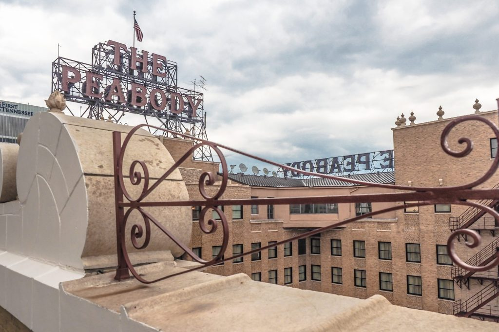 Memphis, Tennessee is weird. Rooftop of the Peabody Hotel where you can see the Peabody ducks