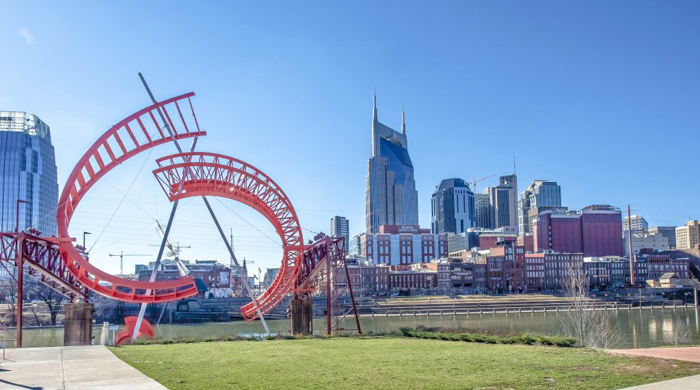 "Skyline of downtown Nashville, Tennessee | ""How hot is mild?"""