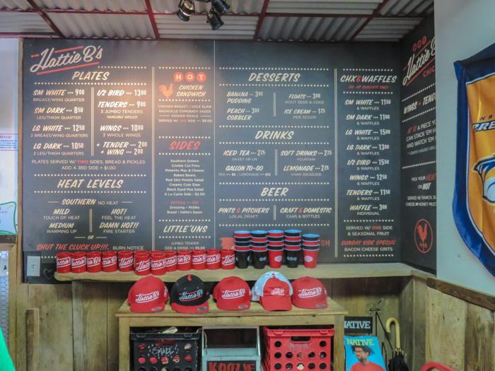 An exploration of Nashville Hot Chicken | Hattie B's | Nashville, Tennessee | chicken and waffles, chicken tenders, spicy fried chicken | Southern cuisine | Soul food | Menu