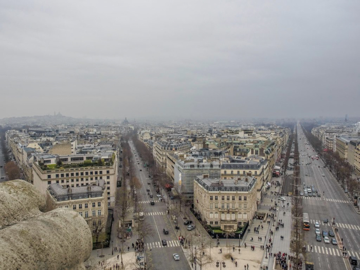 When is the best time to visit Paris, France? Here is a summer vs. winter showdown. Hotel and airfare costs and room availability | Crowds and lines at popular museums, monuments, and attractions | Weather conditions | Winter view from the top of the Arc de Triomphe