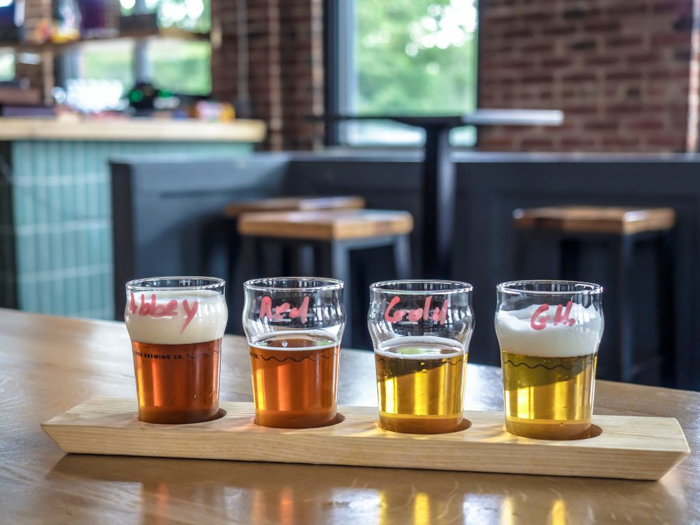 Memphis craft breweries | Ghost River Brewing Co. | Craft beer in Downtown Memphis, Tennessee | Beer flight