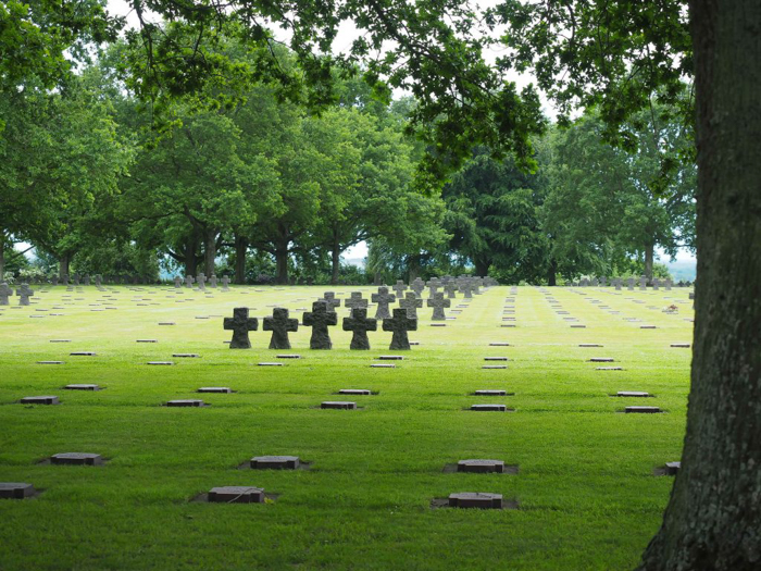 The best D-Day sites to visit in Normandy, France | WWII | WW2 | La Cambe German Cemetery | black crosses
