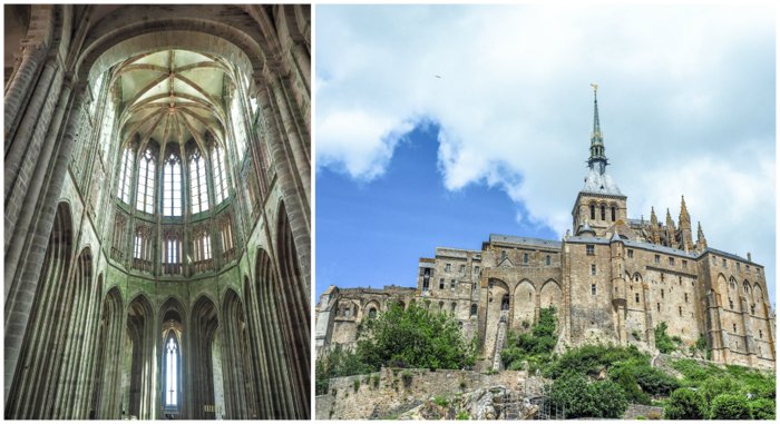 It's actually worth visiting Mont Saint Michel | Normandy, France | Medieval abbey on an island | Bucket list | Disney fairy tale castle inspiration | Mont-St-Michel | church