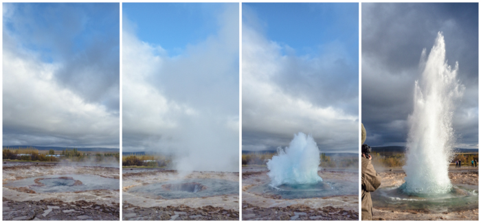 The best two-day Iceland Stopover Itinerary for first-time visitors | Reykjavik, Iceland | Keflavik and Icelandair | Golden Circle Tour | Blue Lagoon | Horseback riding | Icelandic beer | Geysir & Strokkur | Tectonic Plates | Geothermal activity | Fish dinner | Flea market | What to do in Iceland | geyser eruption