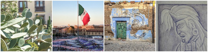 17 Things That Shocked Me in Mexico | Mexico Coaxaca de Juarez | cacti | Zocalo flag | old building | Aztec painting Diego Rivera
