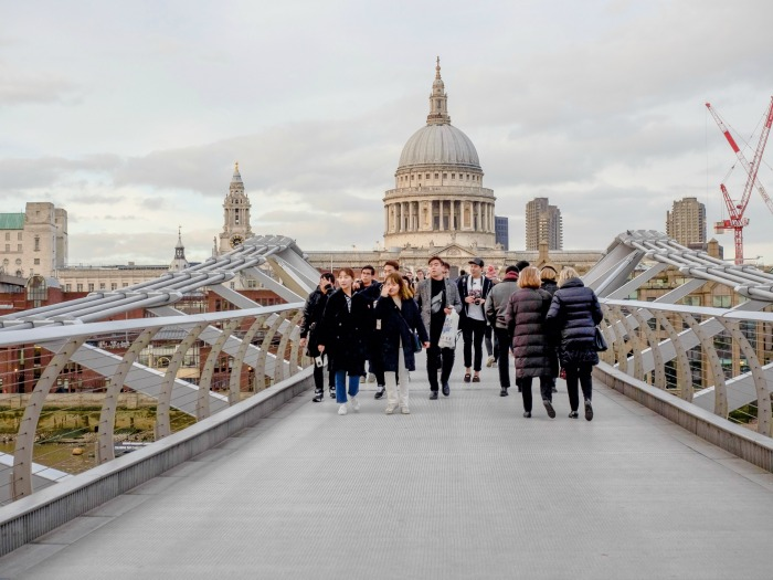 The Best 5-day London Itinerary for First-Time Visitors | London, England, United Kingdom | Millennium Bridge, Thames River