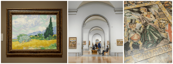 The Best 5-day London Itinerary for First-Time Visitors | London, England, United Kingdom | National Gallery, van Gogh, hallway, floor mosaic