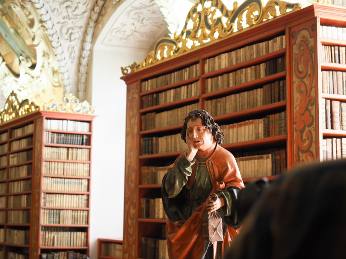 Czeching Out the Best of Prague in 3 Days   Czech Republic   Strahov Monastery Library, Statue