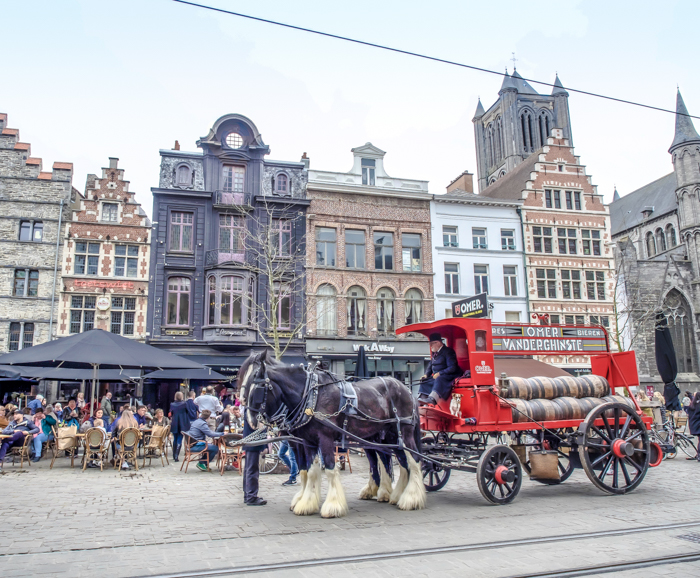 4 days in Belgium | Where to stay in Ghent | Gent | architecture, horse carriage