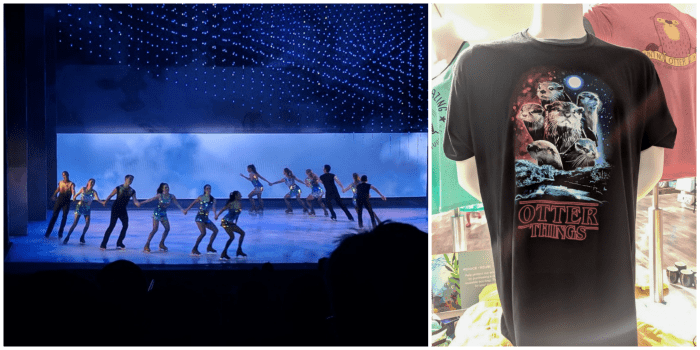 Ice skating show at Busch Gardens and Florida Aquarium gift shop // How to use the Tampa Bay CityPASS as a childless adult. #buschgardens #tampabay #florida #citypass #traveltips #vacation #tampa #timebudgettravel
