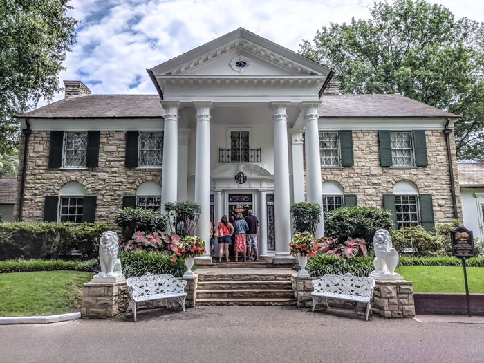 Front of Graceland | 13 Reasons to Visit Graceland in Memphis, Tennessee even if you're not an Elvis Presley fan #Elvis #Graceland #Memphis #traveltips