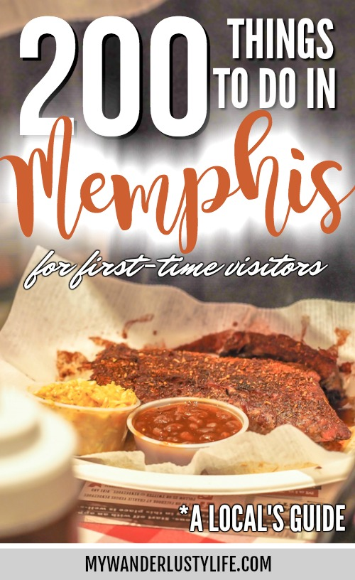 200 Things to Do in Memphis, Tennessee // a Local's Guide for First-Time Visitors // Where to eat in Memphis // Where to go in Memphis // What to do in Memphis // Elvis Presley and Graceland, blues and rock 'n' roll. BBQ and ribs and live music and more.