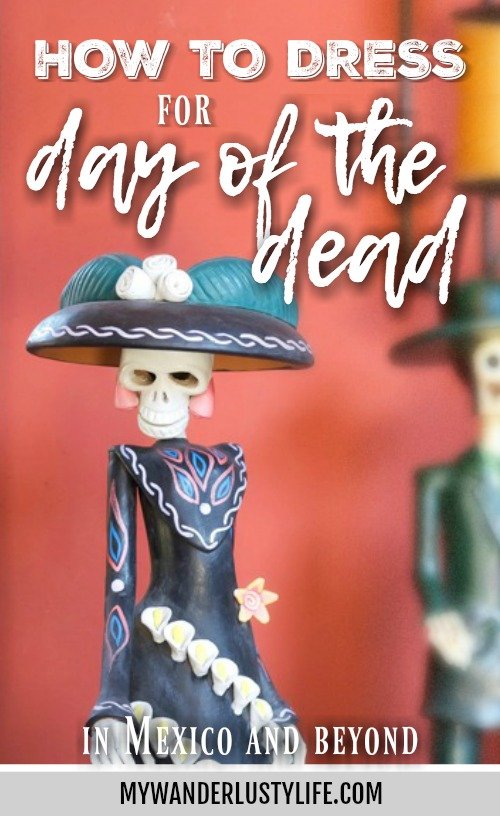 How to dress for Day of the Dead // Día de los Muertos, How to dress like a catrina, etc. Tips for men and women when celebrating in Mexico and beyond. Facepaint, flower crowns, what to wear, etc. #dayofthedead #mexico #diadelosmuertos #catrina #makeup