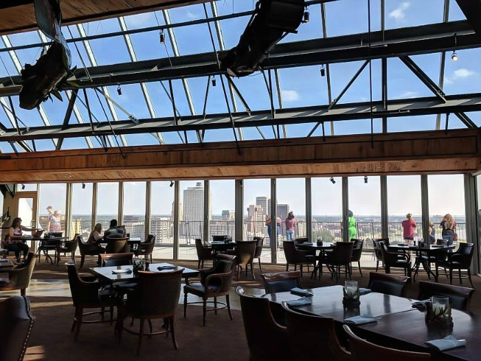 200 things to do in memphis, tennessee for first-time visitors, a local's guide   lookout at the bass pro pyramid #traveltips #memphis #view #pyramid