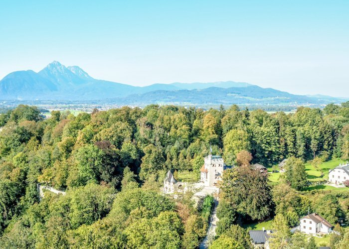 How to Squeeze in a Day Trip to Salzburg from Munich | Austria to Germany | Sound of music, mozart, castle, brewery, museums #salzburg #austria #thesoundofmusic #beer #mozart #daytrip #castle | Salzburg Castle and Alps