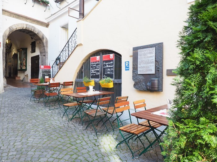 How to Squeeze in a Day Trip to Salzburg from Munich | Austria to Germany | Sound of music, mozart, castle, brewery, museums #salzburg #austria #thesoundofmusic #beer #mozart #daytrip #castle | Goulash at Gasthaus Wilder Mann