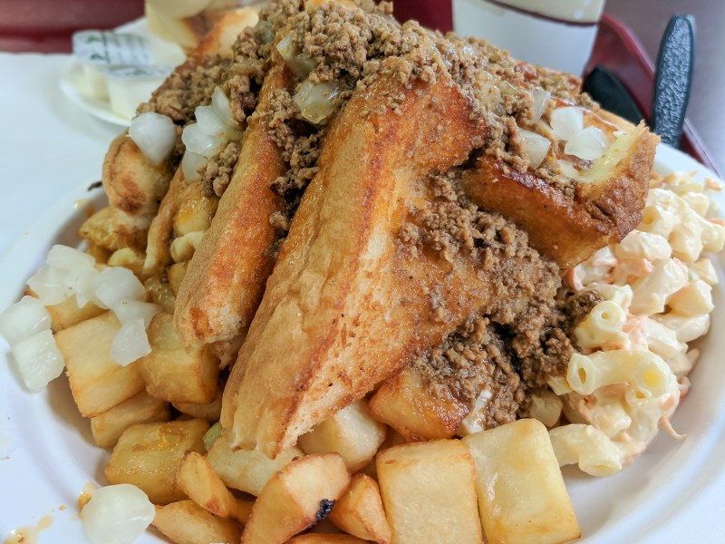 Nick Tahou Garbage Plate | Rochester, New York | Hamburger, Cheeseburger, Grilled Cheese, sausage | strange regional food obsessions