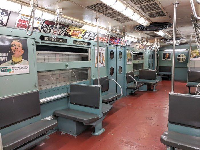 Marvelous Mrs. Maisel car at Brooklyn's New York Transit Museum // Underground and Underrated   The best New York City museum you've never heard of   New York City hidden gem   #NewYorkCity #museum #transitmuseum #brooklyn #nycmuseum #traveltip #timebudgettravel