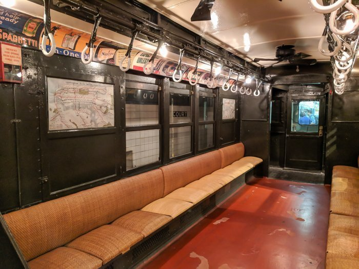 Vintage subway cars at Brooklyn's New York Transit Museum // Underground and Underrated   The best New York City museum you've never heard of   New York City hidden gem   #NewYorkCity #museum #transitmuseum #brooklyn #nycmuseum #traveltip #timebudgettravel