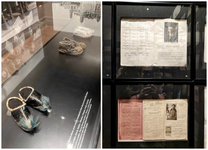 A Time-Budget Traveler's Guide to Visiting Ellis Island in a Hurry   New York City, Manhattan and the Statue of Liberty   United States Immigration Museum   National Park Site #ellisisland #newyorkcity #stateofliberty #nyc #manhattan #ushistory artifacts and shoes