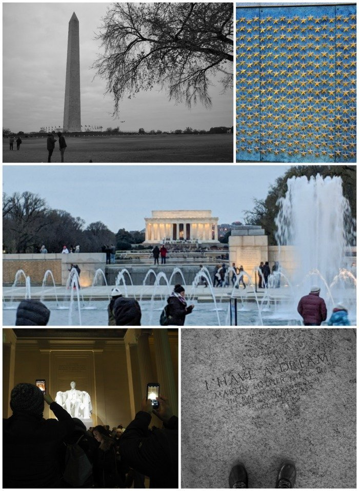 National Mall monuments and memorials | Washington Monument, WWII Memorial, Lincoln Memorial, I have a dream | A Jam-Packed 3 Days in Washington DC Itinerary for First Time Visitors | #washingtondc #timebudgettravel #USA