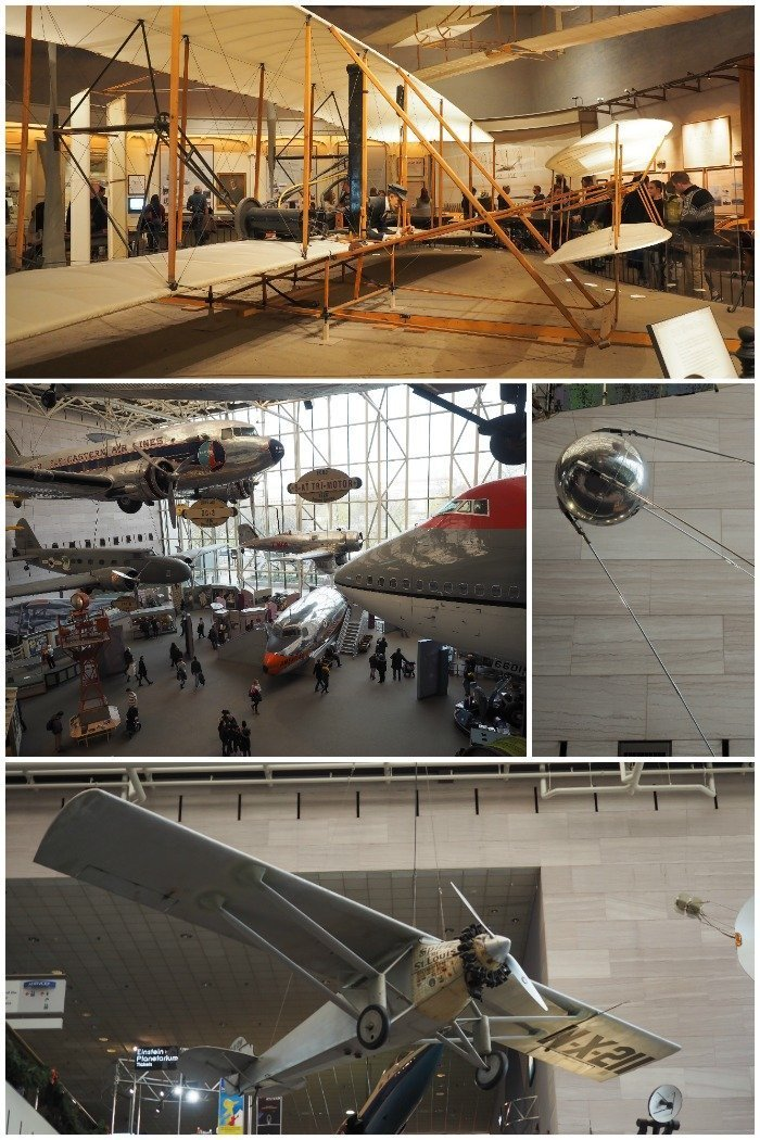 Smithsonian National Air & Space Museum | Spirit of St. Louis, Wright Brother plane, Sputnik | Space Shuttle Discovery | A Jam-Packed 3 Days in Washington DC Itinerary for First Time Visitors | #washingtondc #timebudgettravel #USA