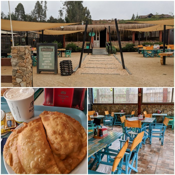 How to Spend One Week in Chile and Cover All the Bases | Empanadas and coffee at the roadside stop Tio Mario #chile #valparaiso #whattodoinchile #weekinchile #empanads #cachagua
