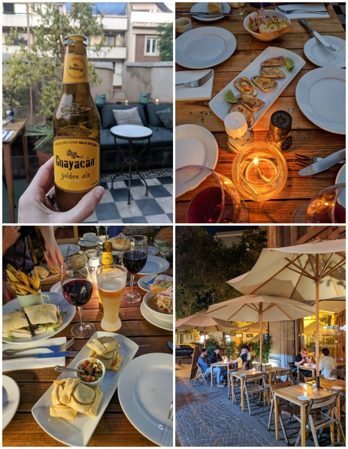 How to Spend One Week in Chile and Cover All the Bases | Santiago and dinner at Casa Lastarria in Barrio Lastarria #santiago #chile #empanadas #aerialviews #casalastarria #whattodoinchile #weekinchile #rooftop
