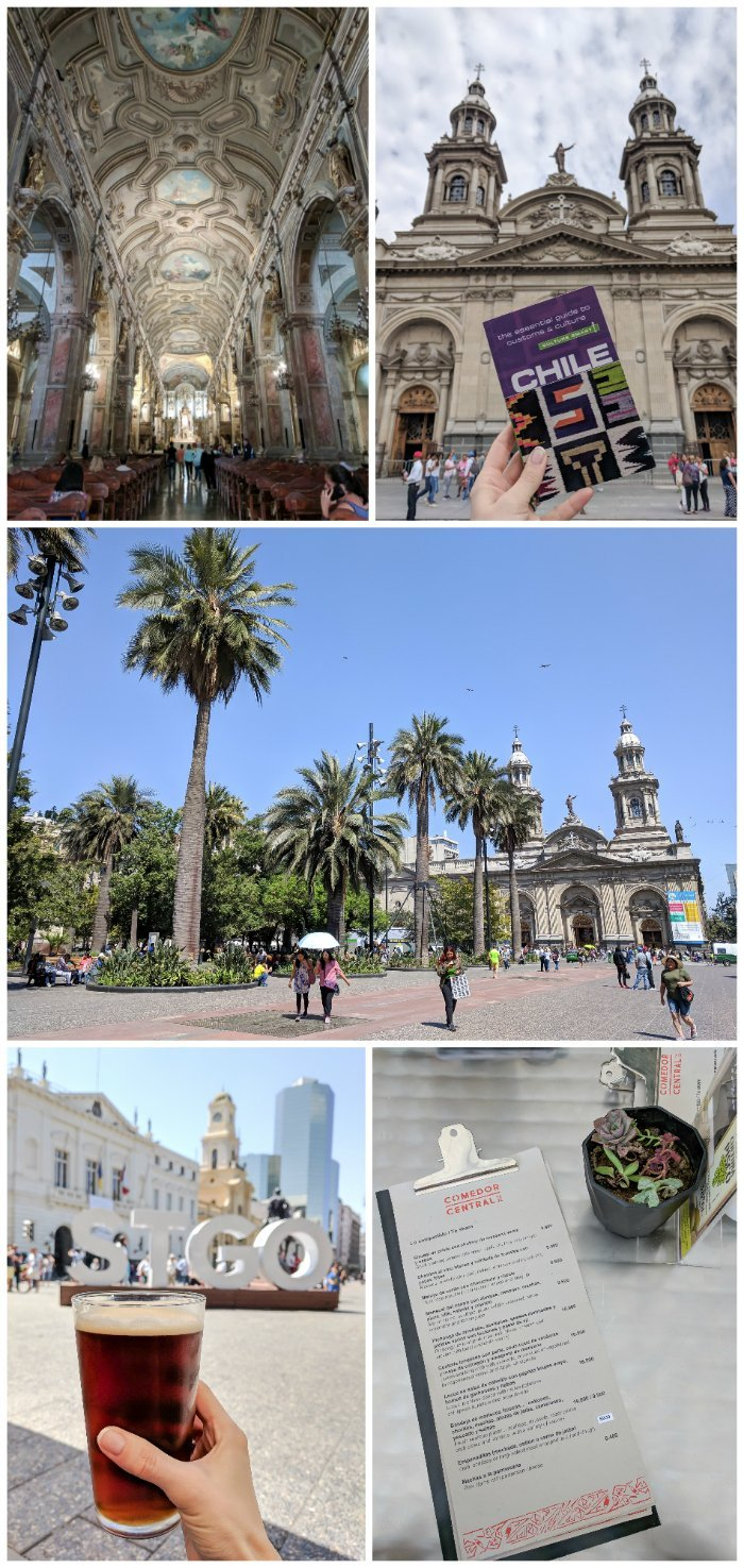 How to Spend One Week in Chile and Cover All the Bases   Santiago and Plaza de Armas, beer, and the Santiago Metropolitan Cathedral #santiago #chile #plaza #plazadearmas #cathedral