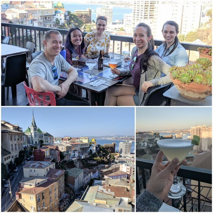 How to Spend One Week in Chile and Cover All the Bases   Dinner and pisco sours in Valparaiso at restaurant Hotel Fauna #chile #valpo #aerialviews #valparaiso #whattodoinchile #weekinchile #piscosour