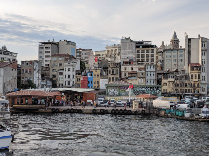 Galata Bridge view, Where to Stay in Istanbul, Turkey: Hotel Momento Golden Horn in Beyoglu / Karakoy. #istanbul #turkey #goldenhorn #wheretostay #hotelreview #hotelmomento #traveltips