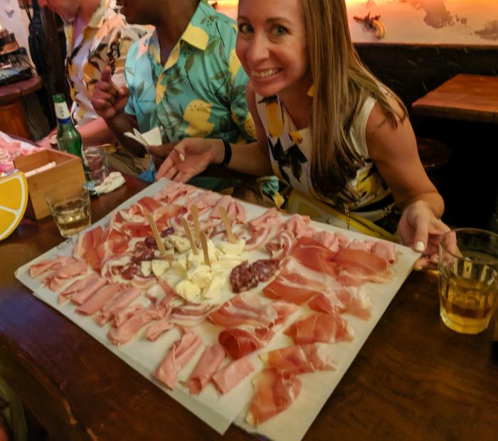 5 days in Sorrento, Italy + the Amalfi Coast, Ciro's Tavern, charcuterie board #sorrento #italy #amalficoast #ciros