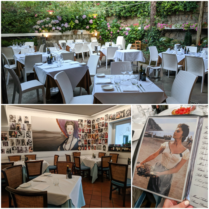 5 days in sorrento, italy, dinner at donna sophia loren #sorrento #italy #italianfood #donnasophia