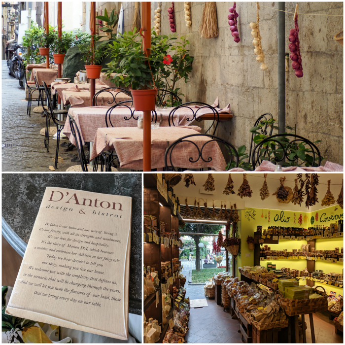 5 days in Sorrento, Italy + the Amalfi Coast | Downtown Sorrento, lemon shop, streets and restaurants #sorrento #italy #amalficoast