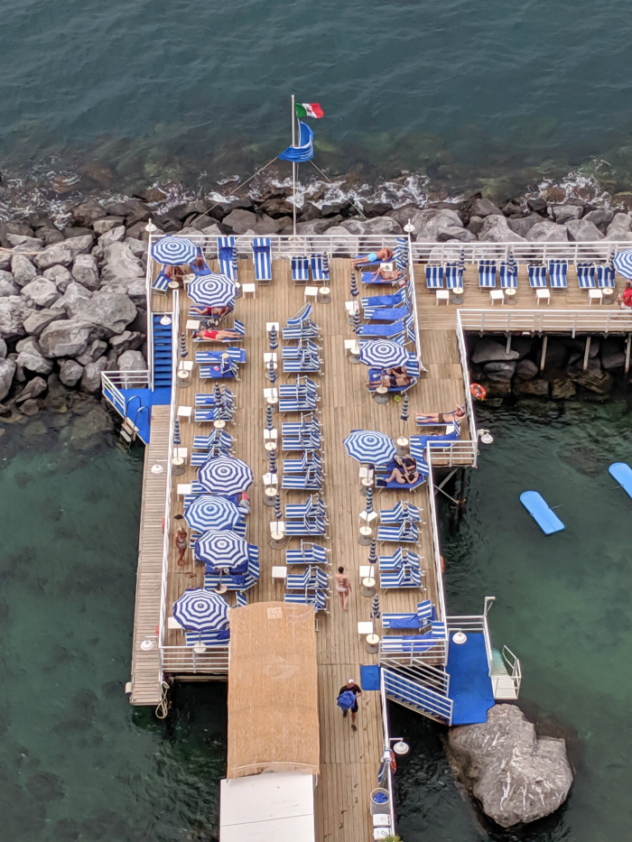 5 days in Sorrento, Italy + the Amalfi Coast | Where to stay in Sorrento, Grand Hotel Riviera swimming dock #sorrento #italy #naples #grandhotelriviera
