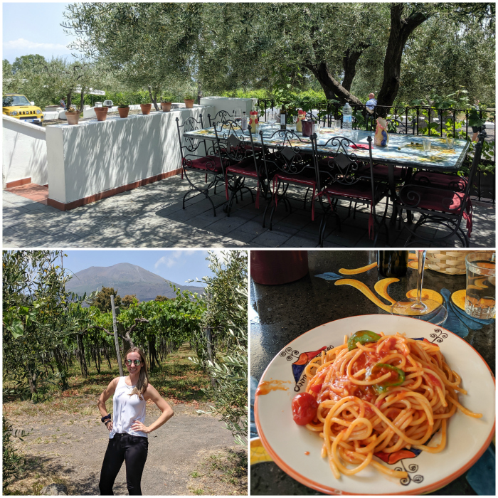 5 days in Sorrento, Italy + the Amalfi Coast | Lunch and wine tasting at Cantina del Vesuvio winery, Mount Vesuvius #sorrento #italy #winery #winetasting #vesuvius #naples