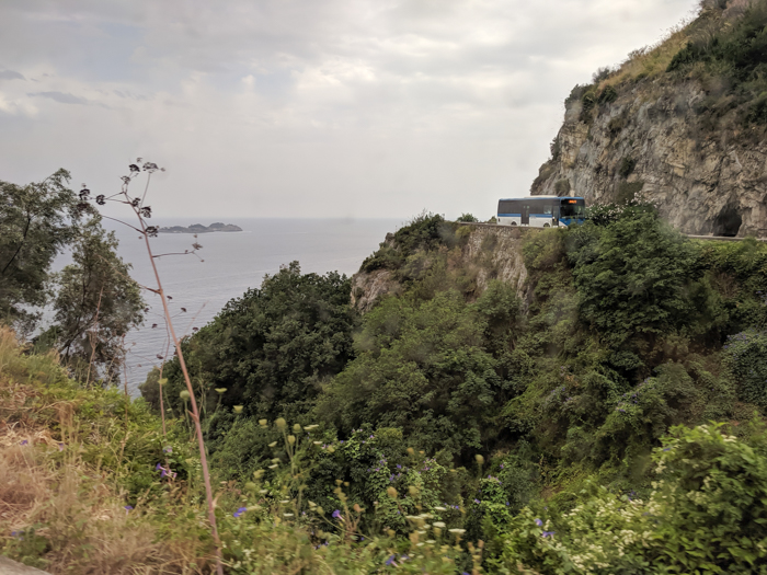 Winding roads of the Amalfi Coast | Hiking the Path of the Gods from Sorrento, Italy on the Amalfi Coast | #pathofthegods #sorrento #amalficoast #hiking #italy
