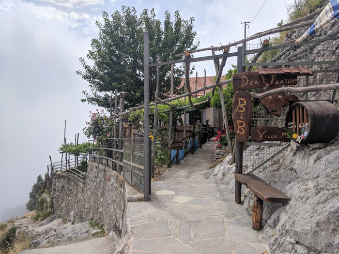 Bed and breakfast break along the Amalfi Coast | Hiking the Path of the Gods from Sorrento, Italy on the Amalfi Coast | #pathofthegods #sorrento #amalficoast #hiking #italy