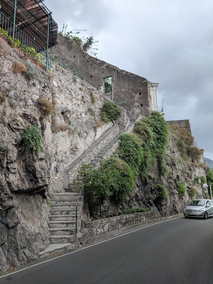 The end of the stairs in Positano, along the Amalfi Coast | Hiking the Path of the Gods from Sorrento, Italy on the Amalfi Coast | #pathofthegods #sorrento #amalficoast #hiking #italy