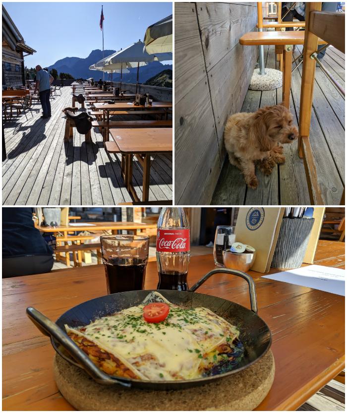 Traditional Liechtenstein cuisine | Rosti mit kase at Berggasthaus Sareis