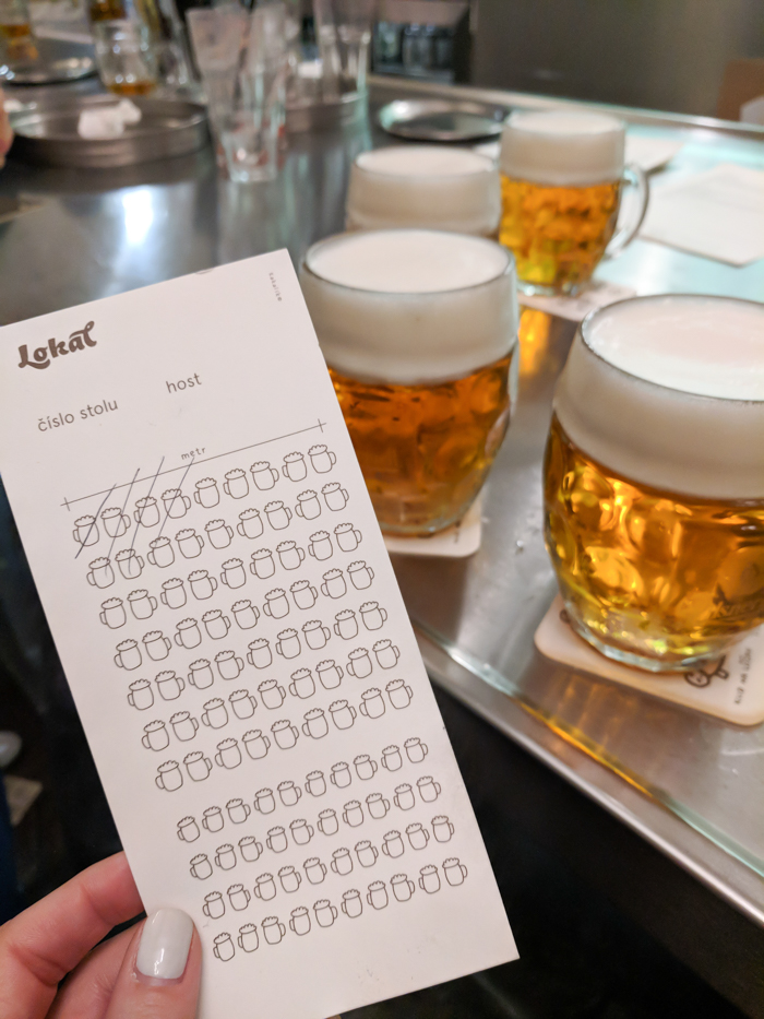 Lokal Dlouhááá bar tab | Cool Prague Experiences | Czech Republic / Czechia | Where to eat and drink in Prague, Prague travel tips
