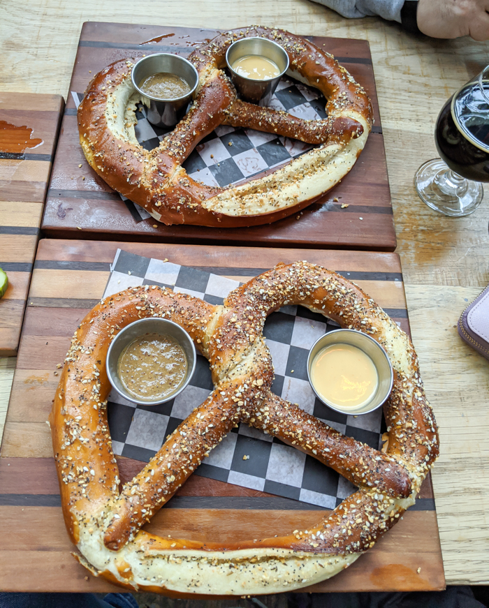 Everything pretzels at Bluejacket brewery in the Navy Yard   Another long weekend in Washington, D.C.