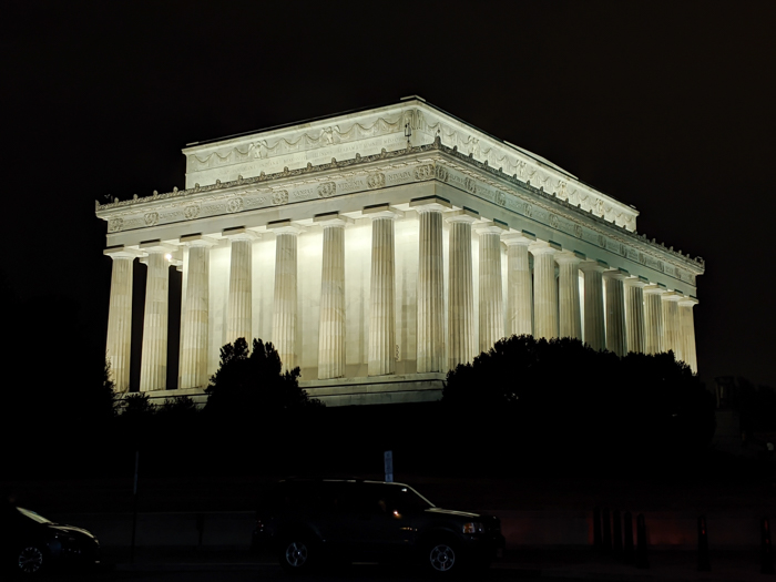 Big Bus night tour of Washington DC, Lincoln Memorial lit up   Another long weekend in Washington, D.C.